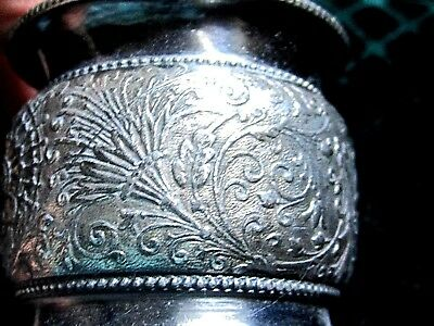 Antique Very Nice Floral Silver Plate Napkin Ring