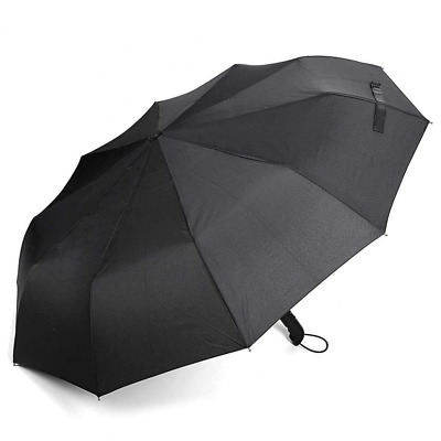 Automatic telescopic umbrella switch of a button single hand operated  Black