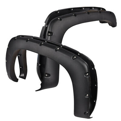 Pocket Style Bolt On Rivet Fender Flares For Chevy Silverado GMC Sierra 99-06