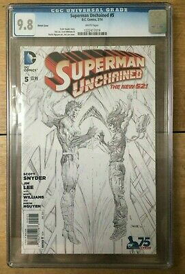 Superman Unchained #5 Jim Lee 1:300 Sketch Variant CGC 9.8