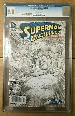 Superman Unchained #6 Jim Lee 1:300 Sketch Variant CGC 9.8