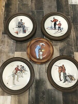 Norman Rockwell 4 seasons Collector Plates + American Family Series II plate