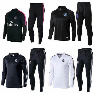 New Adult Mens Soccer Tracksuit Football Sportswear Tops & Bottoms Training Suit