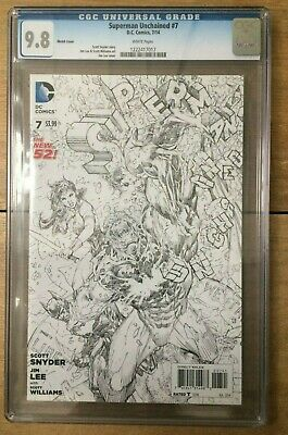 Superman Unchained #7 Jim Lee Sketch CGC 9.8