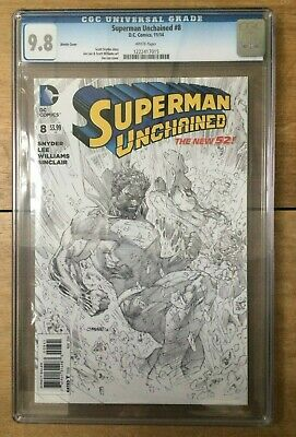 Superman Unchained #8 Sketch CGC 9.8