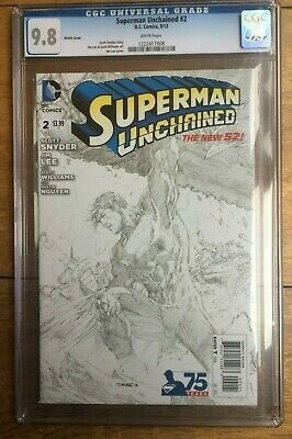 Superman Unchained #2 Sketch CGC 9.8