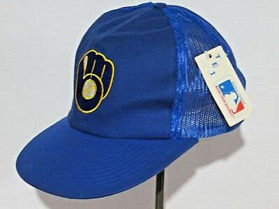 b9311d2924e Nwt Milwaukee Brewers Plain Logo Tei Twins Snapback Hat Cap Mlb Logo Blue