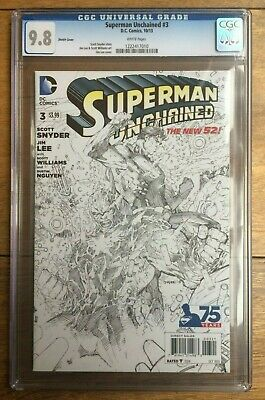 Superman Unchained #3 Sketch CGC 9.8
