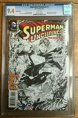 Superman Unchained #1 1:300 Jim Lee Sketch Variant CGC 9.4