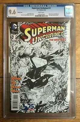 Superman Unchained #1 1:300 Jim Lee Sketch Variant CGC 9.6