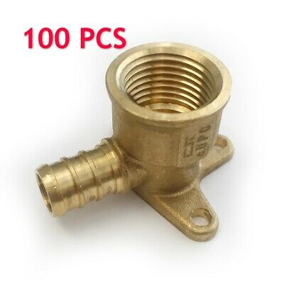 "100 PCS 1/2"" PEX x 1/2"" Female NPT  Drop Ear Elbow Crimp Fitting(Lead Free)"