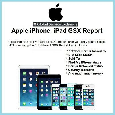OFFICIAL APPLE GSX Report for iPhone and iPad Carrier Check SIM Lock Status