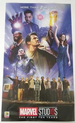 SDCC 2018 EXCLUSIVE MARVEL STUDIOS The First Ten Years AVENGERS Poster