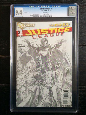 Justice League #1 CGC 9.4 1:200 Sketch Variant