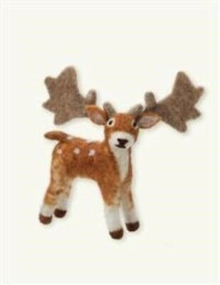 Victorian Trading Co Wooly Woodlanders Felted Wool Spotted Moose Doll 25B