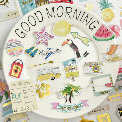 72pcs travel cardstock die cuts for scrapbooking happy planner/card making LR