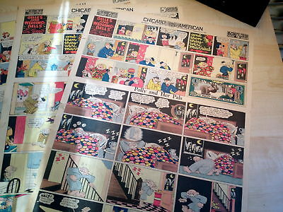 Lot Of 7 Polly & Her Pals-Cliff Sterrett Rare Fulls 1933-Surreal Classic Vg+