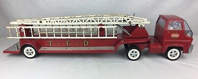 "Vintage 1960'S Tonka Hook & Ladder Fire Engine Truck 30"" Long Pressed Steel Toy"