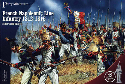 French Napoleonic Infantry - 28mm figures x42 Perry FN100