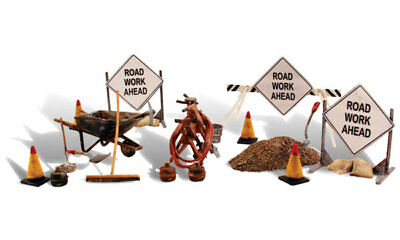 Painted O scale Road Crew Details Woodland Scenics figures A2762 P3