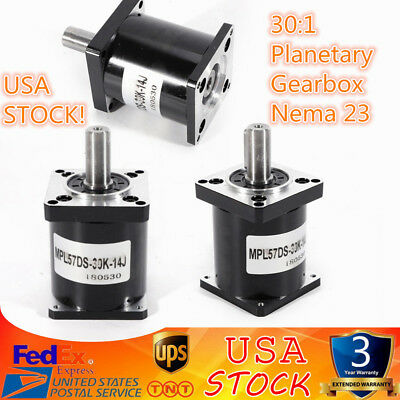 30:1 Planetary Gearbox Nema 23 Stepper Motor for DIY CNC Mill Lathe Router 57mm