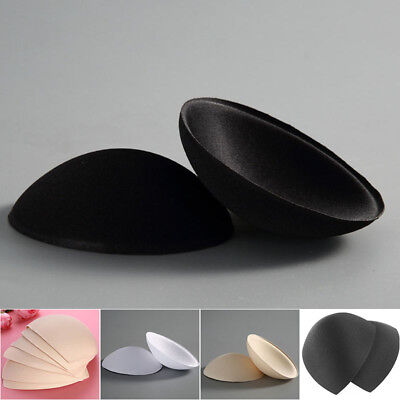 3 Pairs Women Girl Insert Cotton Sponge Bra Inserts Removeable Bra Pads Swimsuit