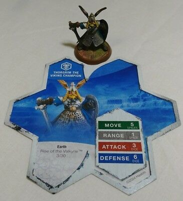 Heroscape Game Figure Army *Thorgrim The Viking Champion* With Card 3/30 2004