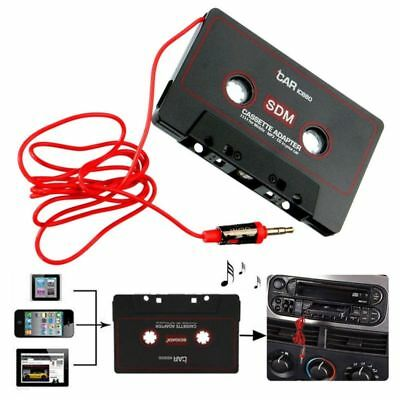 3.5mm Jack Audio AUX Car Cassette to MP3 CD MD iPod Phone Tape Adapter Converter