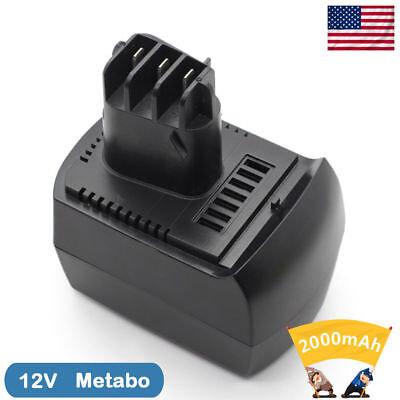 2.0Ah 12V 10 cells NI-MH Black Replace Battery For Metabo BS12SP BSZ12 Lenoge