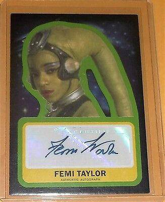 2015 Topps Star Wars Force Awakens Auto Femi Taylor as OOLA NM-MT Non Graded