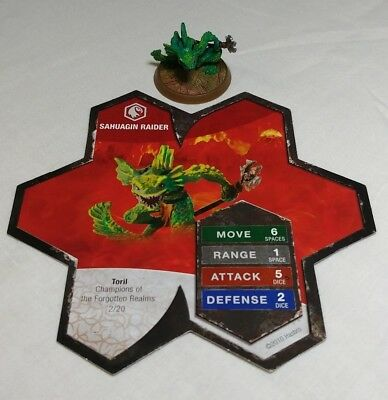 Heroscape Figure: Sahuagin Raider w/card from Champions Of The Forgotten Realms