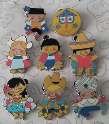 It's A Small World Mystery Collection 2016 Disney Pin Make a Set Lot
