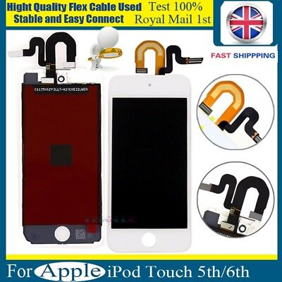 For Apple iPod Touch 5th/6th Gen LCD Screen Digitizer Display Replacement White