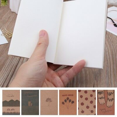 Notebook Blank Page Painting Paper Book Journal Diary Notepad Memo Pads Supplies