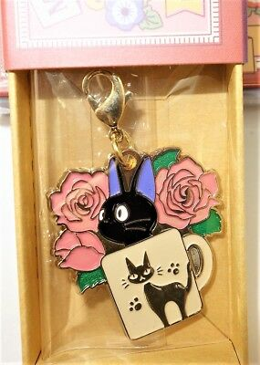 Movic Ghibli Kiki's Delivery Service Metal Charm Collection 2 Jiji & Cup Mug Cat
