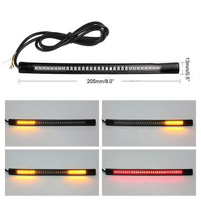 Flexible Motorcycle 48 LED Strip Rear Tail Brake Stop Turn Signal Lights Lamps t