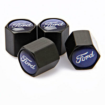 4x Universal Car Logo Auto Tyre Valve Stems Caps Tire Dust Coves Fit For Ford