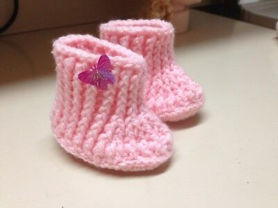 Pink Babies Bootees 0 to 3 months