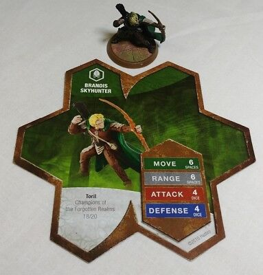 Heroscape Figure: Brandis Skyhunter w/card from Champions of the Forgotten Realm