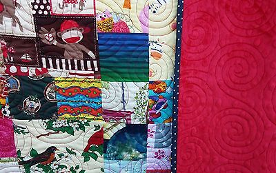 Handmade I Spy quilt minky backing gift baby shower morethanjustquilts