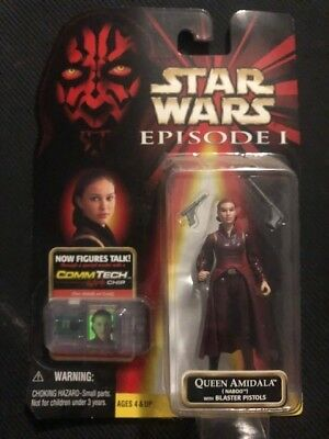 Hasbro Star wars Episode 1-action figure queen amidala comm tech unopened