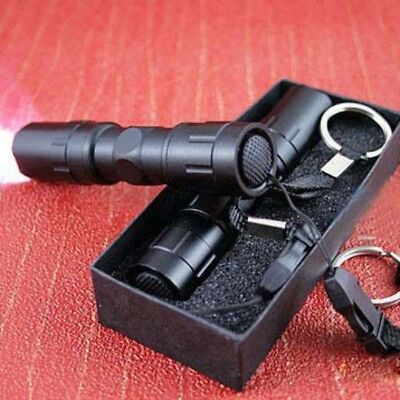 LED Bright Flashlight Medical Pen Light Outdoor Small Torch Lamp Mini 3W+Keyring