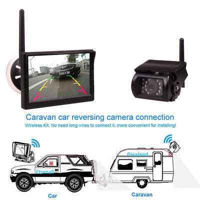 Wireless IR Rear View Back up Camera Night Vision System+7inch Monitor RV Truck
