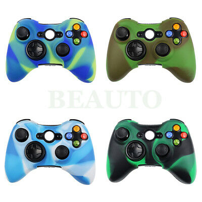 Soft Camouflage Rubber Silicone Skin Case Cover for Xbox 360 Controller