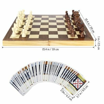 Wooden Folding Chessboard Chess Board Box Set Xmas Gift Kids Game Toy Puzzle
