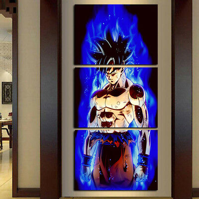 Dragon Ball Animation 3 PANEL CANVAS WALL ART MODULAR DECORATIVE  BRAND NEW