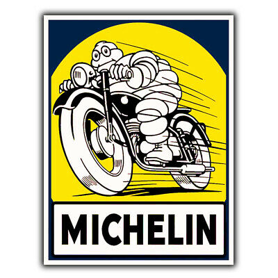 MICHELIN Man Tyres METAL SIGN WALL PLAQUE Retro Advert man cave shed garage