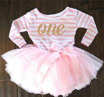 1st Birthday, Cake Smash, Baby Girl Photo Prop Long Sleeve Top With Tulle Skirt!