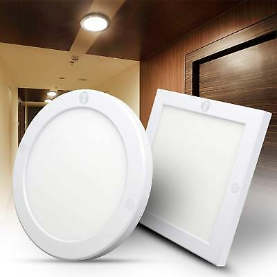 18W Surface Mounted LED Ceiling Panel Flat Light PIR Sensor Spotlight Cool White