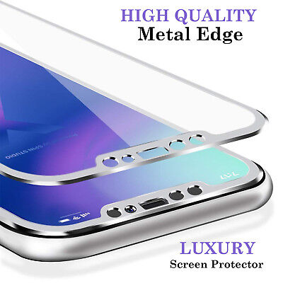 For Apple iPhone X Tempered Glass Screen Protector - METAL NEW!!